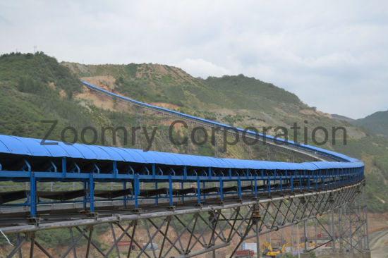 Environmental Protection Flat Unloading Belt Conveyor System Feeding Material Transportation Equipment