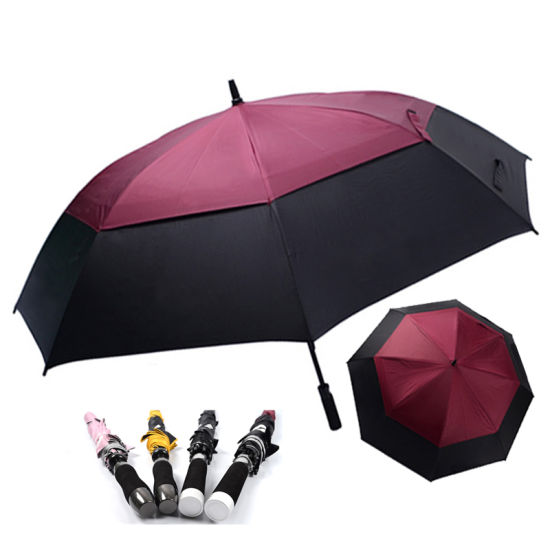 OEM Price Double Vented/Cnopy Windproof Strong Golf Umbrella with Custom Logo