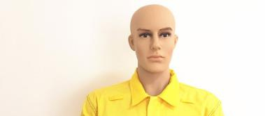 Yellow Twill Cotton Construction Vest Polyester Workwear