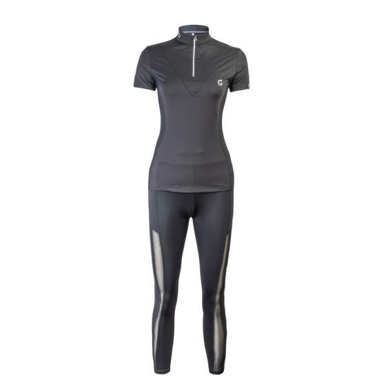 OEM Female's Newly Nylon/Spandex Mesh Fabric Lovely Polo Shirt