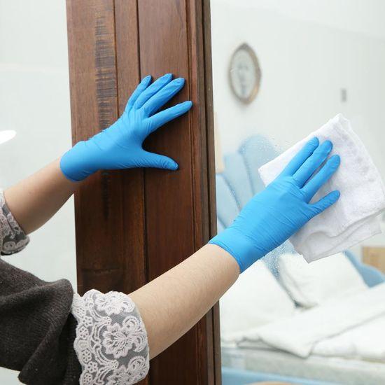 Medical Supply Powder Free Medical Disposable Blue Examination Nitrile Gloves Exam Glove