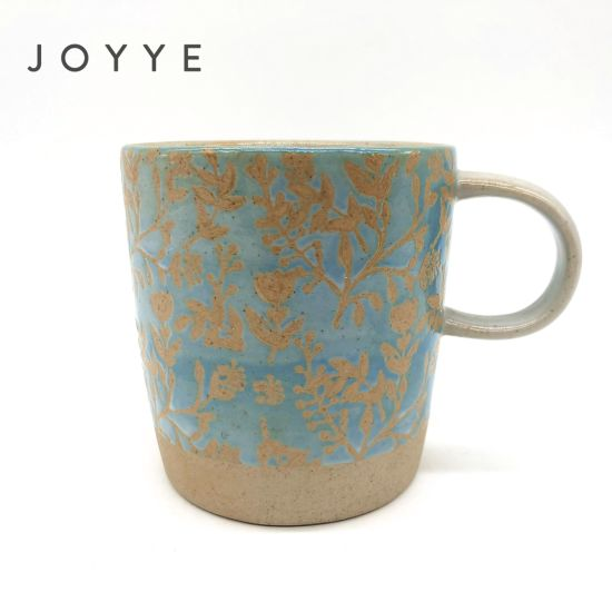 Special Hand Painted Porcelain Sandy Clay Blue Mug pictures & photos