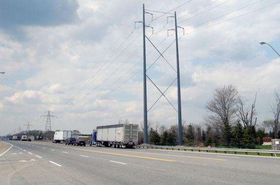 Megatro 220kv Transmission Line Steel Pole