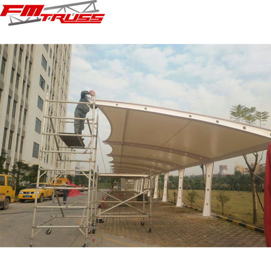 China 2 10 Cars Parking Shade Tensile Membrane Tents Carports China Carport Tensile Membrane Tensile Membrane Structure