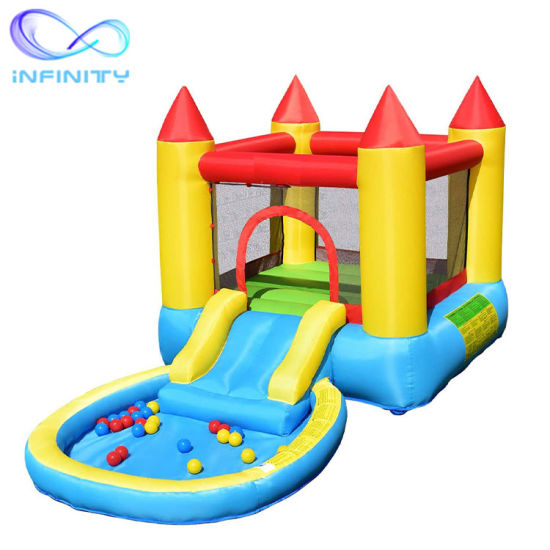 China Whole Sale Inflatable Slide Bouncer Jump And Slide Bouncer Castle Costzon Castle Bounce House With Water Slide Jumping Area Splash Pool China Castle Bounce House And Jumping Castle Price