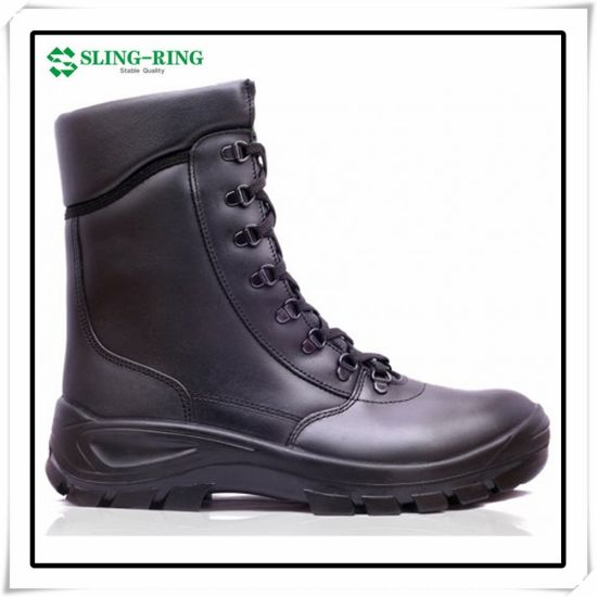 Factory Wholesale Genuine Leather Safety Shoes Steel Toe Ankle High Work Boots Distributor