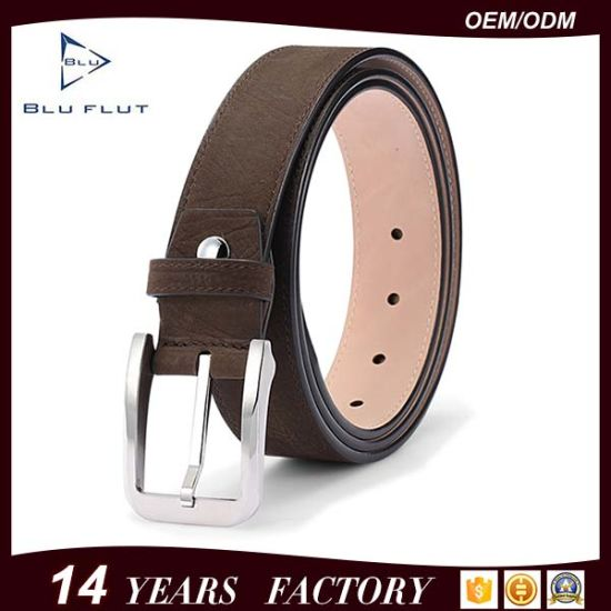 Men's Leather Belt Genuine Cow Leather Nickle Free Buckle Belts
