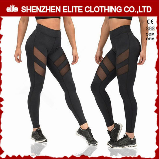 a80c9139ce Latest Womens Fashionable Black Sexy Yoga Pants (ELTFLI-111) pictures &  photos