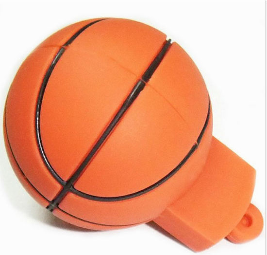 Promotion Gift Basketball Shape PVC Material USB Flash Drive for Custom Logo