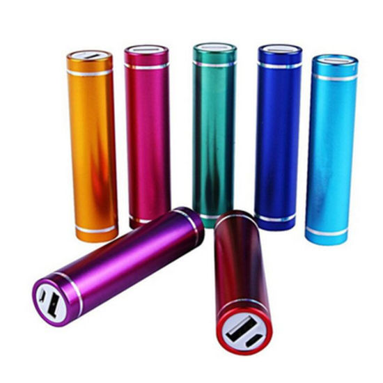 Colorful Cheap Price 2600mAh Tube Power Bank Battery for iPhone Samsung Mobile Cell Phone