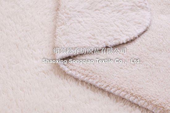 Plain Shu Velveteen Fleece Blanket / Polyester Baby Blanket pictures & photos