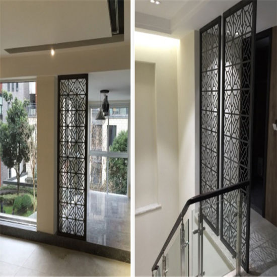 Luxury Interior Design Home Furniture Stainless Steel Decorative Partition  Screen Wall Divider
