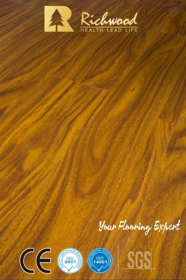 China 8mm Mahogany Wax Coating Laminate Floor China Laminate