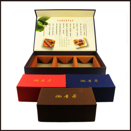 Hot Stamping Tea Box Customized Packaging Boxes Gift Paper Box pictures & photos