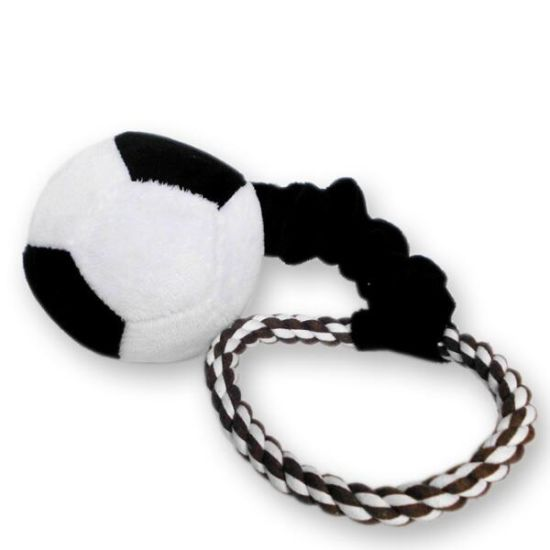 Pet Plush Toy Football Style Dog Rope Toy with Handle (KB0029) pictures & photos