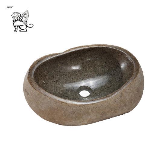 Hand Washing Kitchen Bathroom Ornamental Natural Granite Stone Sink Mssg-11