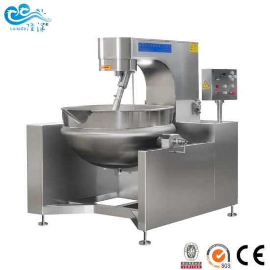 China Supplier Cooking Machine Electric Jacketed Kettle with Mixer Agitator for Ce SGS Approved