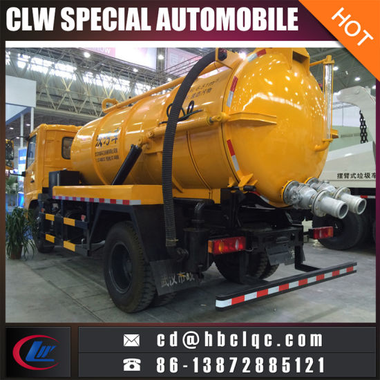 Dongfeng Tianland 8ton 10ton Vacuum Tank Sewer Suction Truck pictures & photos
