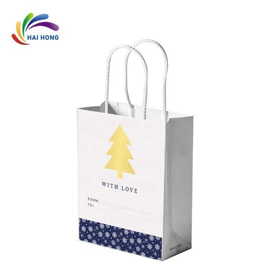 Biodegradable Customized Printed Kraft Paper Shopping Bag with Twisted Handle pictures & photos