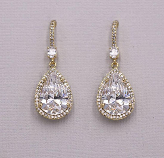 China Wedding Pear Earring Wedding Jewelry Bridal Jewelry