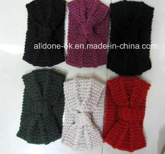 New Design 100% Knitted Headband Ear Warmer Neckwarmer Scarf Turban pictures & photos