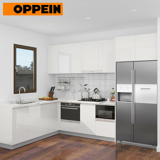 China Affordable Modern Custom Made White Modular Lacquer Kitchen Cabinet China Affordable Kitchen Cabinets Modern Kitchens