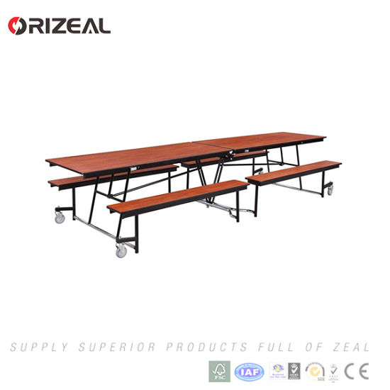 Orizeal Folding Mobile Cafeteria Square Table pictures & photos