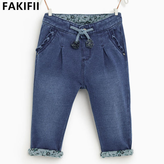 Premium Quality Brand Children/Kid Clothes Baby Cotton Jeans pictures & photos