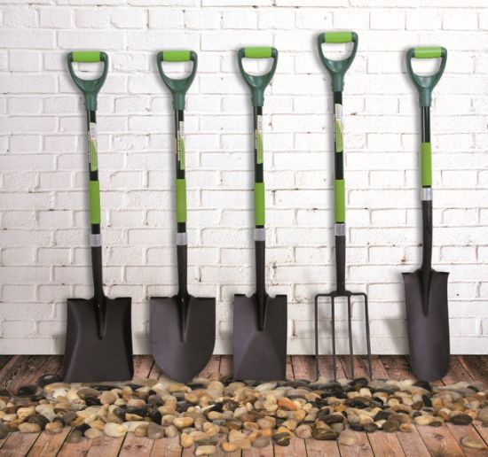 Hand Tools Shovel Round Fibreglass Grip D Handle DIY Garden pictures & photos