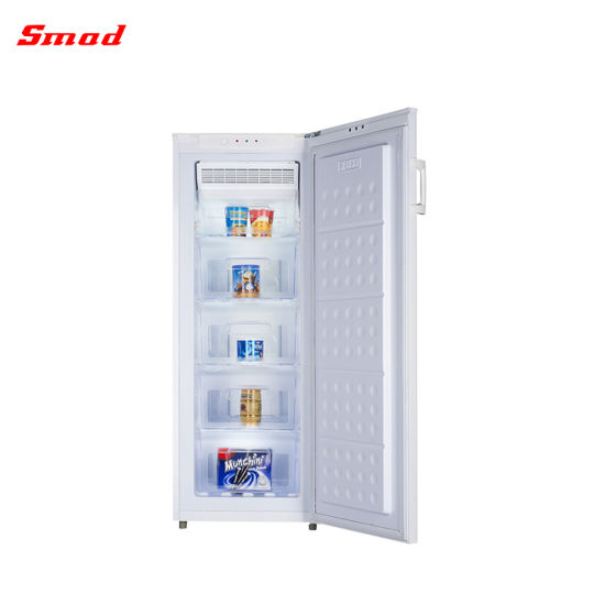 Commercial Sliding Solid Door None Frost Vertical Freezer with Drawers