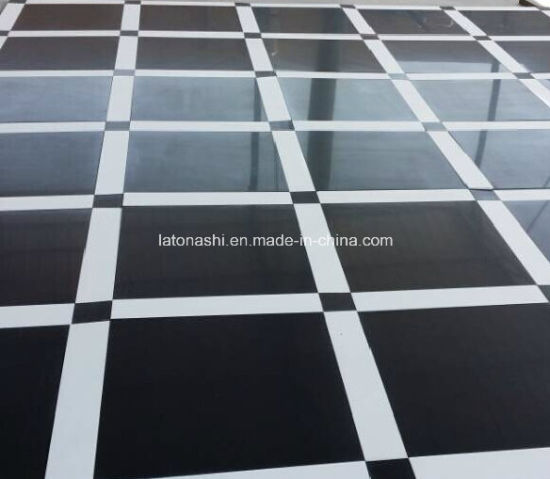 China Cheap Price Design Absolute Black Granite Tile Flooring For