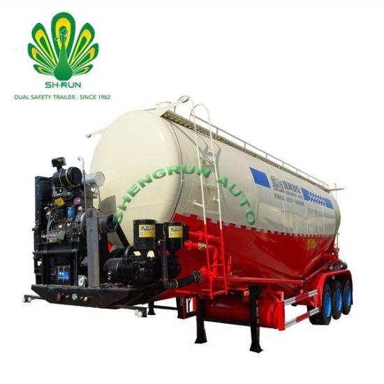 3 Axle 36-60m3 Cement Tank Truck Trailer Bulk Powder Tanker in Malawi