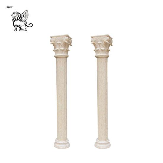 White Marble Onyx Pedestal Roman Column for Wedding Mcy-50