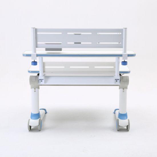 Perschool Meatal and Wooden Kid Study Learning Furniture Desk Adjustable Table for Children Bedroom School