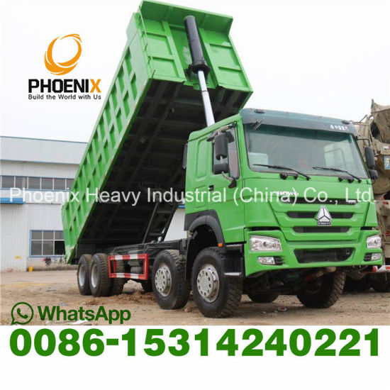 Good Condition Used 375HP HOWO Dump Truck Tipping 12 Wheels Tires Second Hand Low Price Tipper Dumper Dumping Truck for Africa