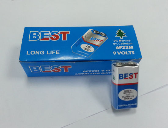 9V 6f22 Super Zinc Carbon Battery pictures & photos