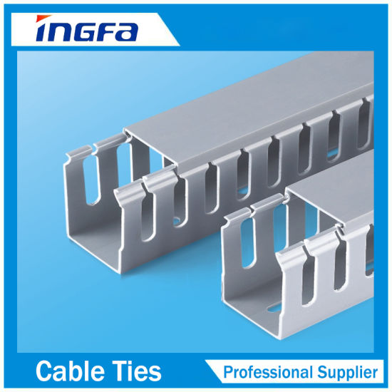 china 40x60mm pvc slotted wiring duct china cable duct open duct rh yingfacable en made in china com Panduit Wire Duct Open Slot Wiring Duct
