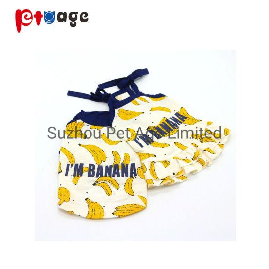Cool Summer Dog Banana T-Shirt Dress Clother Fashion Pet Accessories