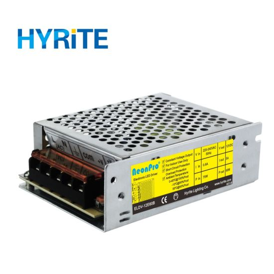 60W 12V Indoor Constant Voltage LED Driver with Ce, Bis