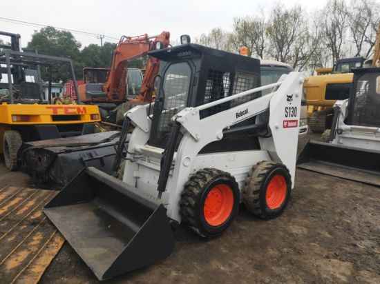 Used Bobcat Skid Steer Loader S130 in Good Condition with Reasonable Price. Secondhand Bobcat Skid Steer Loader S18, Ht100, S130, S185, S250 on Sale