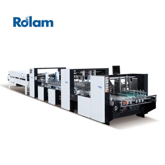Automatic Crash Lock Bottom Folding Gluing Machine with ISO