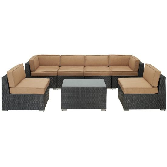 Meiyaxin China Factory Outdoor Furniture Poly Rattan Sectional Cushioned Sofa