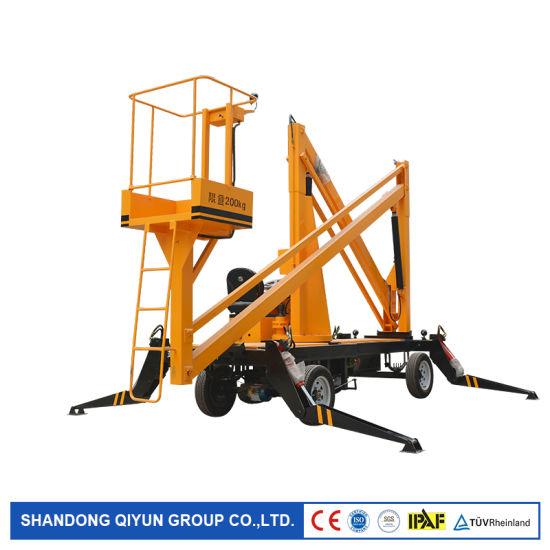 Ce ISO 6m 8m 10m 12m 14m 16m Self-Working Crank Arm Aerial Work Platform Mini Articulating Man Boom Lift