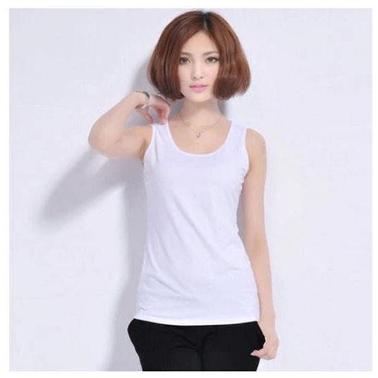 cc35547ec Women Wholesale Plain Cotton/Spandex Tank Tops/Vests/Singlet pictures &  photos