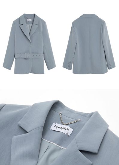 2021 Fashion Leisure Spring Autumn Women S Office Uniform Business Korean Style Blue Elegant Lady S Suits China Suit And Ladys Suit Price Made In China Com