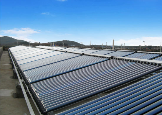 80mm Thickness 2m2 Area Flat Plate Solar Collector with Blue Titanium