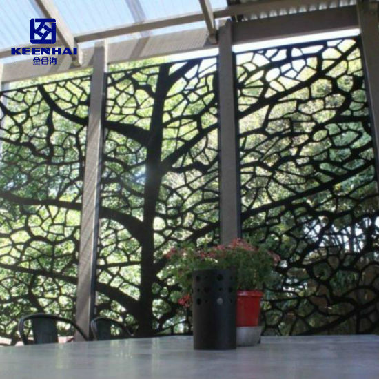 Decorative Perforated Tree Pattern Aluminum Sheet Metal Security Fencing