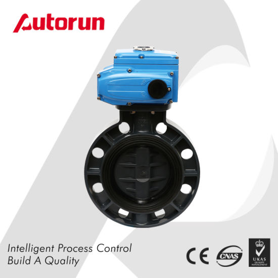 Electric Plastic PVC Butterfly Valve pictures & photos