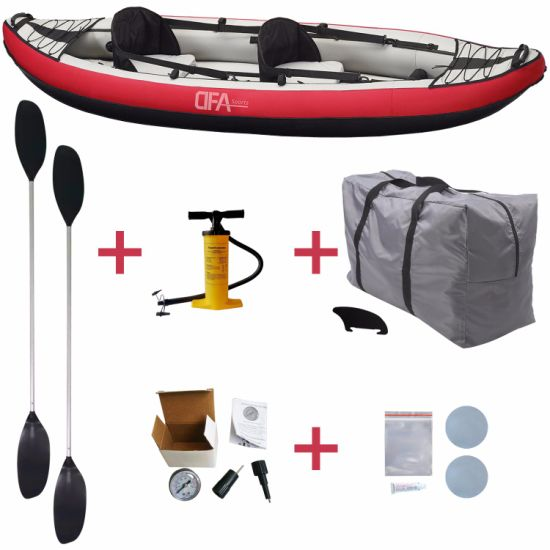 Dfaspo 2 Person Inflatable New Design High Quality Fishing Boat Canoe Yacht Kayak