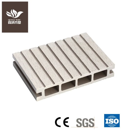 Hollow WPC Wood Plastic Composite Decking Board with UV Resistance, Waterproof, CE ISO SGS